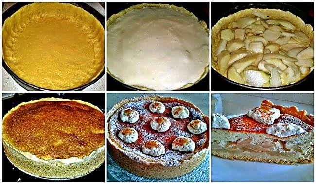Preparación de la tarta de peras