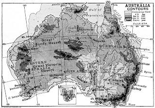 Mapa de Australia 1906