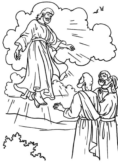 Drawings to color Easter Week: Ascension of Jesus to color