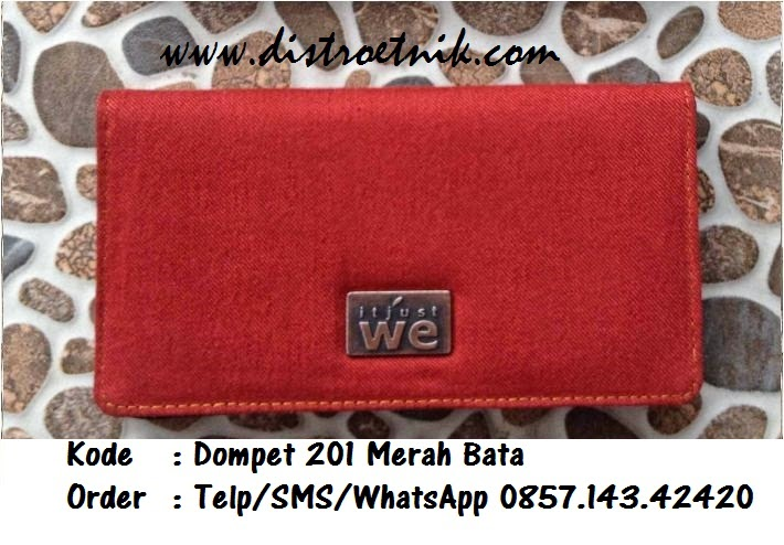 dompet jeans it just we wt 201 merah bata