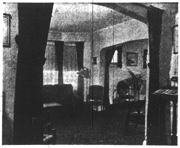 A view of the family reception room in the original funeral home