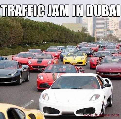 Traffic Jam In Dubai Funny Images
