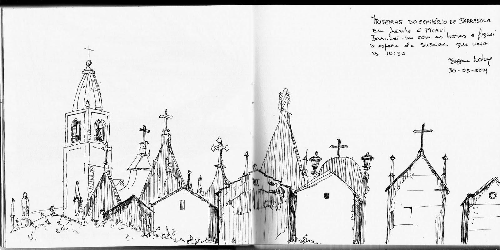 suzana nobre desenhos espera com vista para o cemitério
