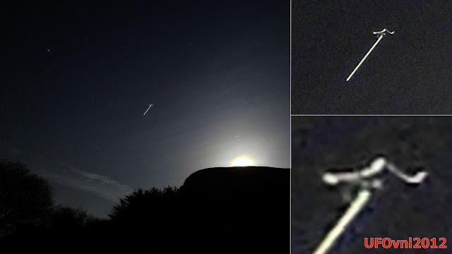Irlande : Faisceau de lumière OVNI capturé sur la montagne de Knocknarea à Strandhill, Février 2016