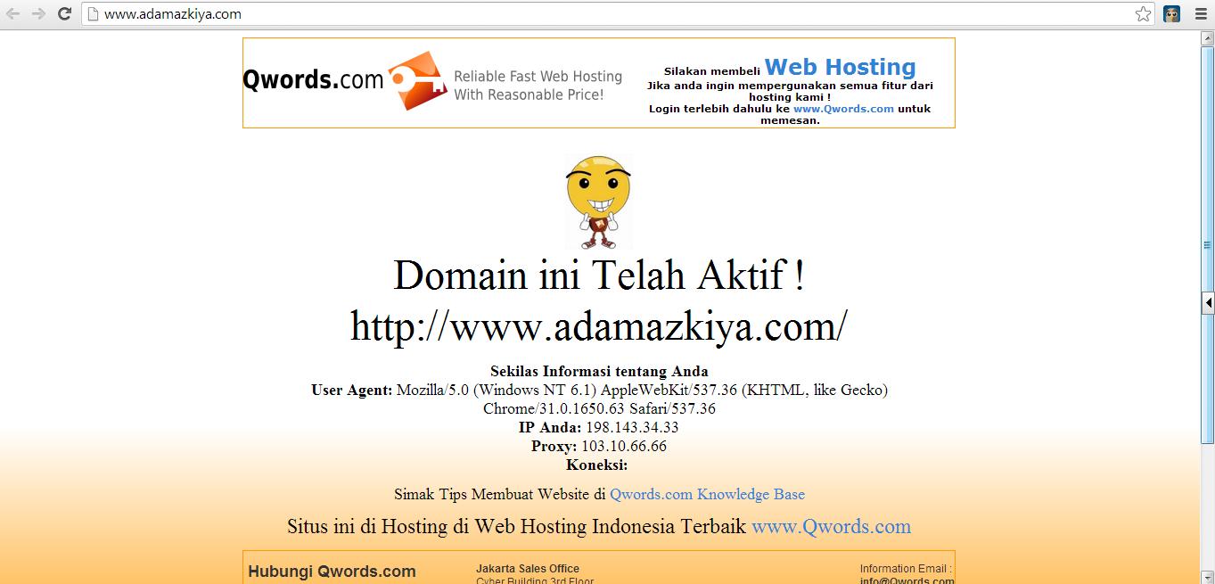 Domain Baru Adam Azkiya
