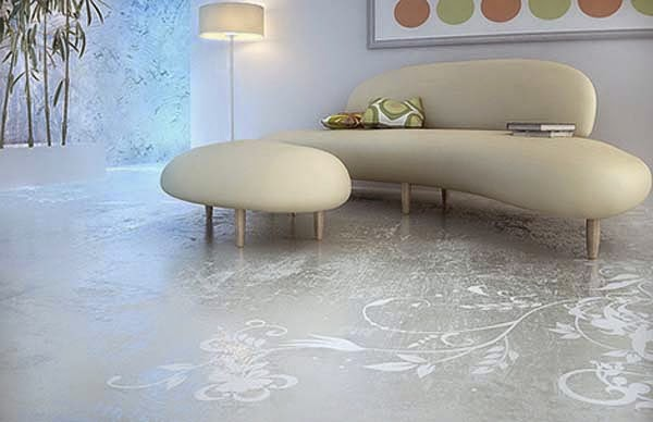 Self Leveling Bathroom : Awesome d flooring art and bathroom floor murals
