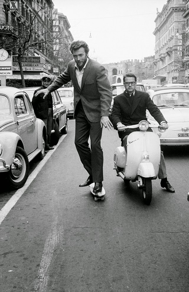 Clint Eastwood skating