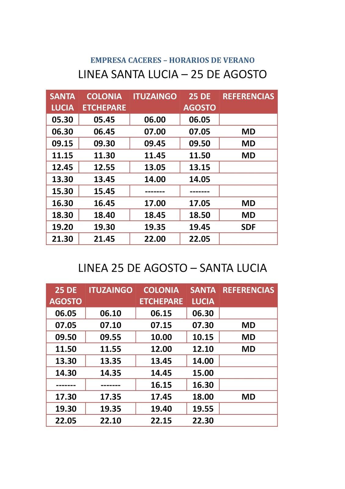 Horarios del transporte metropolitano horarios de verano for Horario oficina santa lucia
