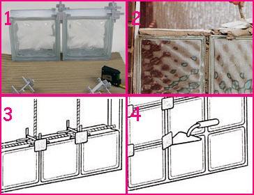 los ladrillos de cristal son bloques de vidrio que se utilizan para la decoracin tanto de interiores como de exteriores hacen el efecto de un tragaluz y