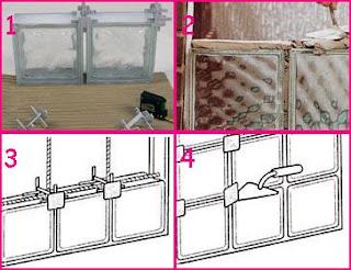 Los bloques de vidrio aplicaciones y caracteristicas de arkitectura - Como colocar ladrillos de vidrio ...