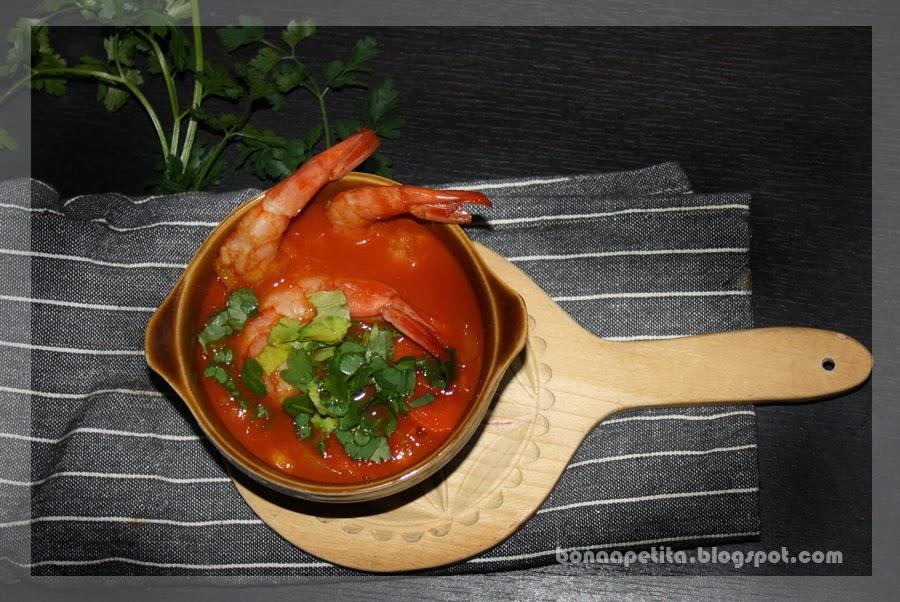 słodko kwaśno ostro rozgrzewajaca zupa z krewetkami