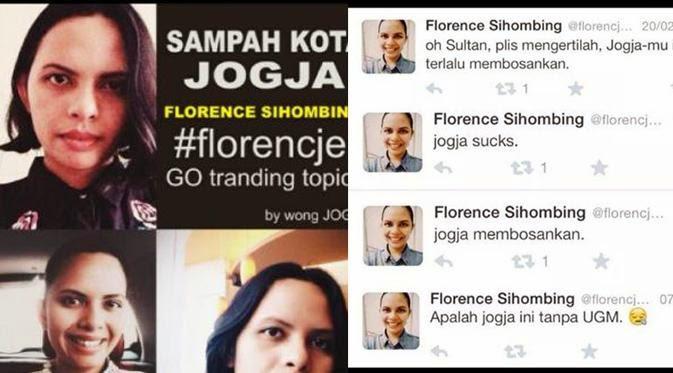 Florence Sihombing Ditahan Karena Penghinaan Dan SARA Jogja