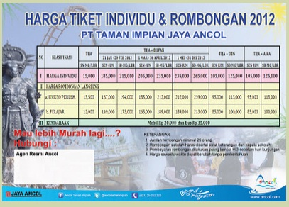 Harga Tiket dan Agen Taman Impian Jaya Ancol