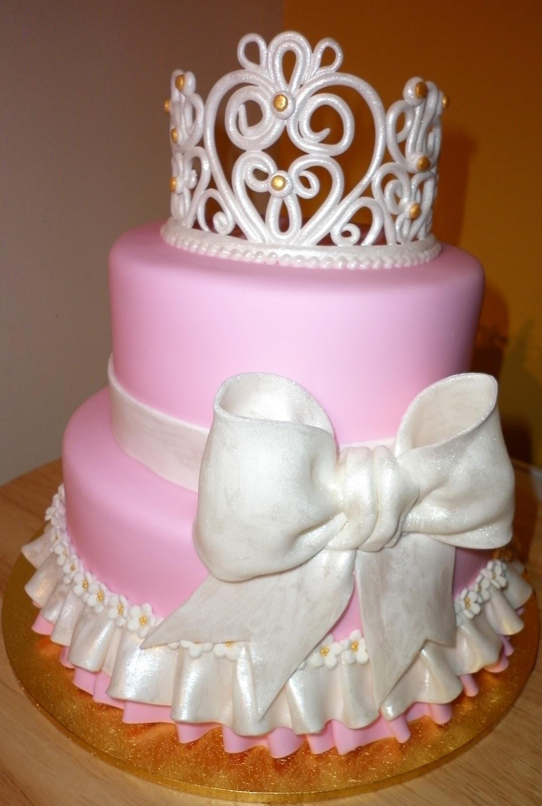 Princess Crown Cake Images : Caketopia: Pink Princess Cake for Sherron