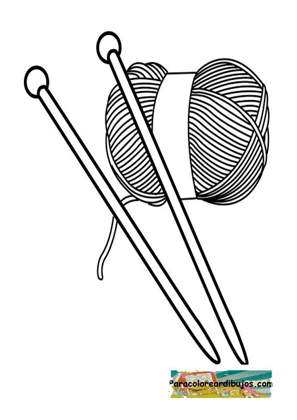 agujas de lana para colorear