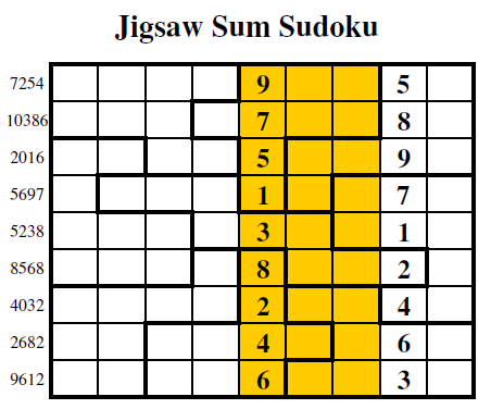 Jigsaw Sum Sudoku (Guest Authors Sudoku #3)