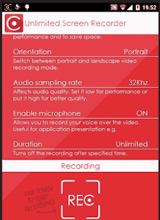 Unlimited Screen Recorder app Android