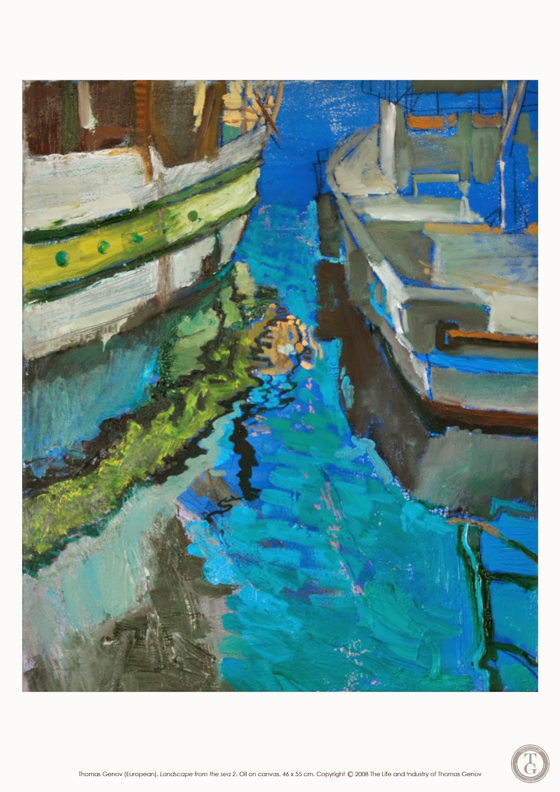 La Mer, Oil on canvas, 46X55 cm, Planner in Nesebar, 2003