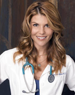 Lori loughlin as dr joanna lupone in the tv show in case of emergency