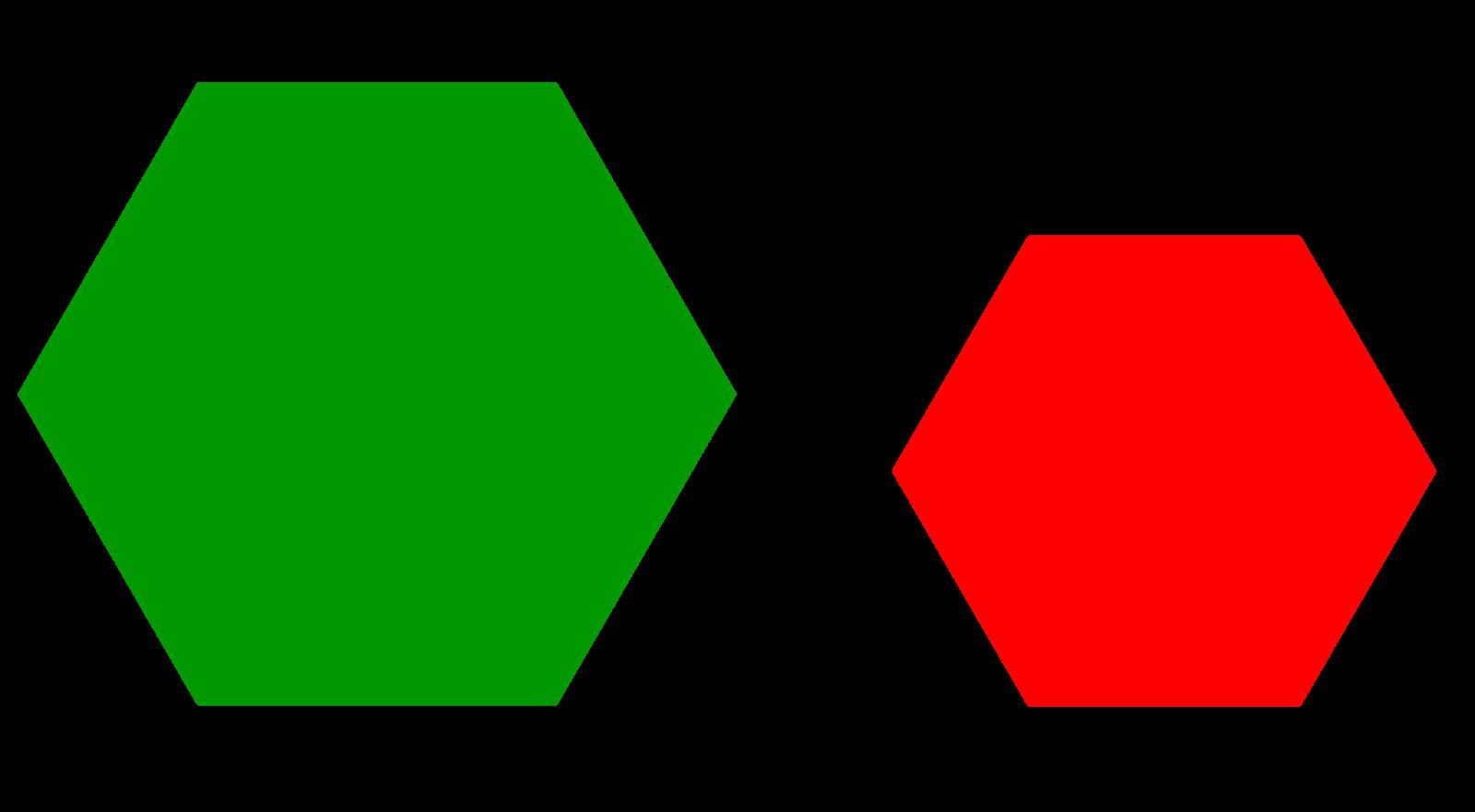 Dous hexágonos regulares