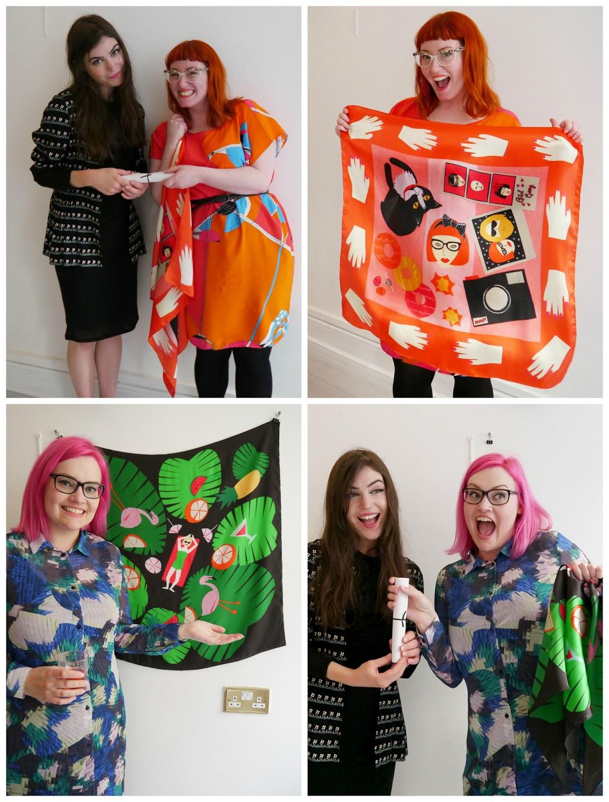 Scarf School, Scarf School Graduation, Edinburgh, Hill Street Design House, Karen Mabon, Scarf Design, Scottish Bloggers, blogging duo