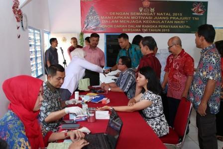 250 Prajurit TNI ikuti Donor Darah Natal