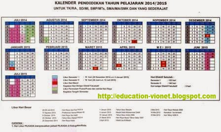 Kelender Penendidikan 2015 | My Calendar Template Collection
