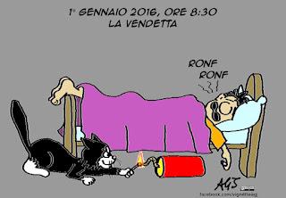 botti, capodanno, buon2016, anno nuovo, animali, umorismo, vignetta