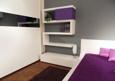 Ruang Tidur Dengan Sentuhan Warna Ungu 3