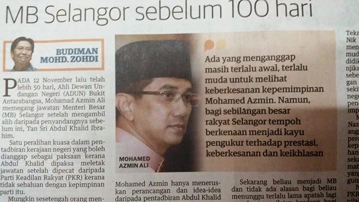 Jasa Azmin Ali Setelah 100 Hari Bergelar Menteri Besar, Sembur Nyamuk Aedes, Gali Longkang, Turun Longkang, Masuk Longkang, Tempat Pembuangan Sampah, Masuk Tong Sampah, Sembur Racun.