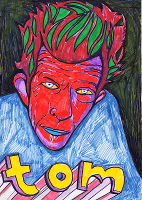 Tom Waits Marker Drawing
