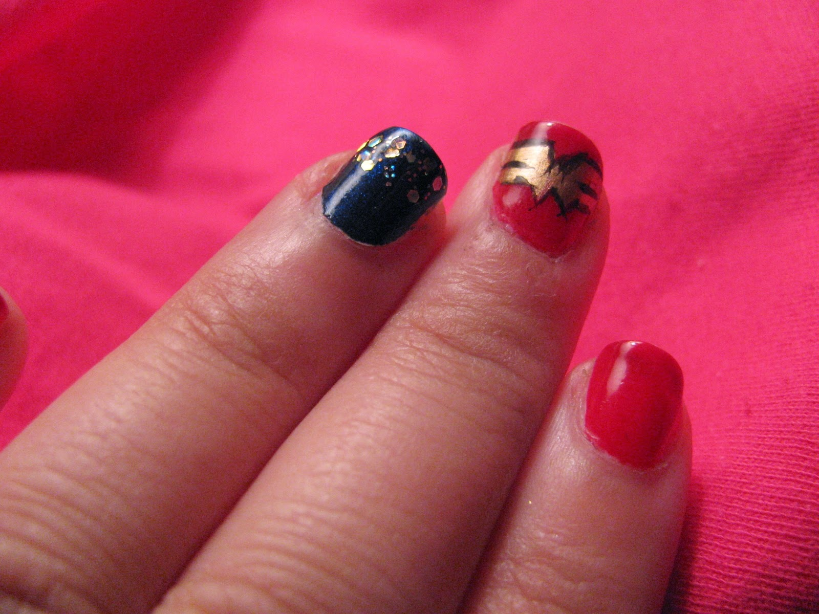 The Super Secret Nail Blog: Weekend Nails: ComiCon Special