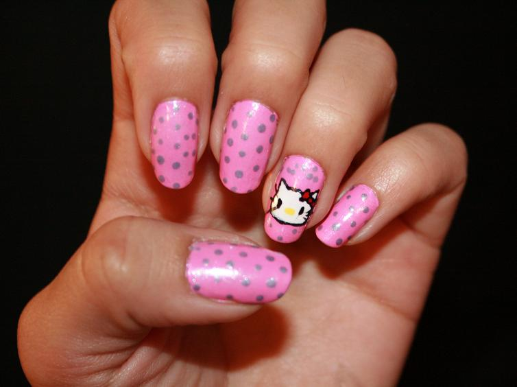 hello kitty nail designs for kids