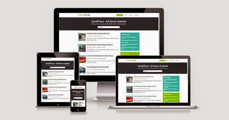 Download Template Blog Responsive 100% & Valid HTML5 - Droidpluss By Kang Ismet