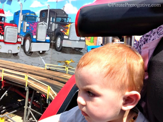 Riding convoy, the truck ride, at the fair