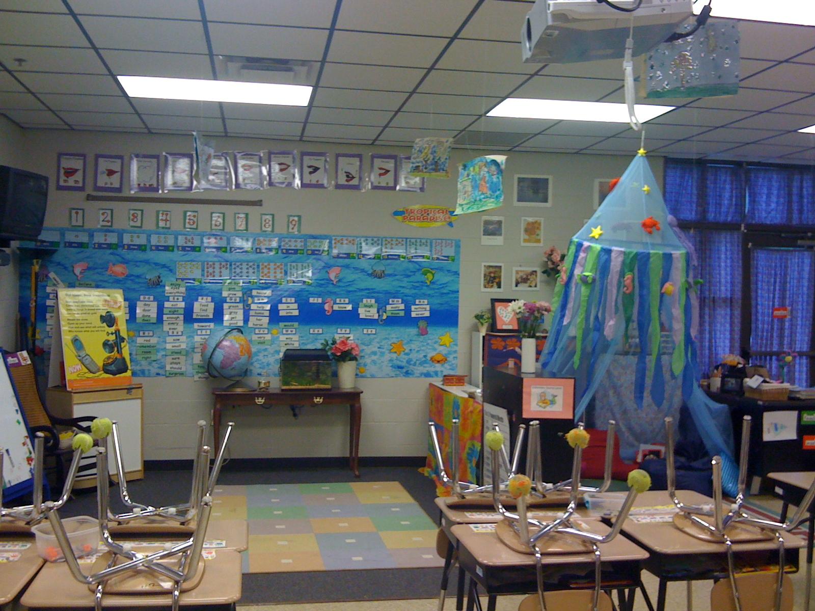 Classroom Aquarium Ideas ~ Teaching happily ever after ocean beach themed classroom