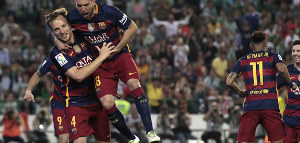 Betis 0 x 2 Barcelona: Veja os gols de Suarez e Rakitic