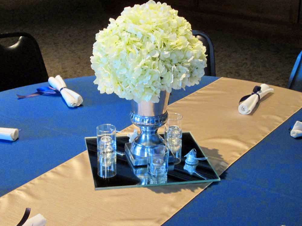 Get The Look Classic Navy And Gold Wedding Reception Elite Events