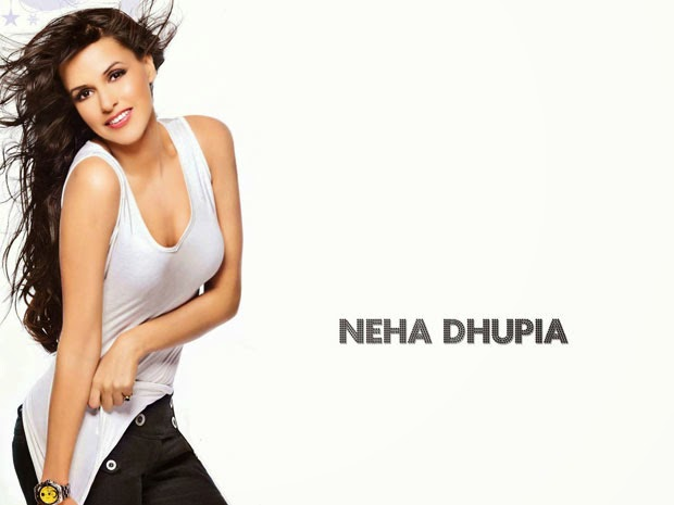 neha dhupia hot cleavage navel hd pics