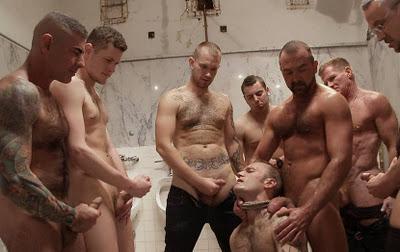 Naked lesbian girls in locker room
