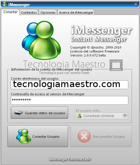iMessenger el cliente liviano de mensajería instantánea