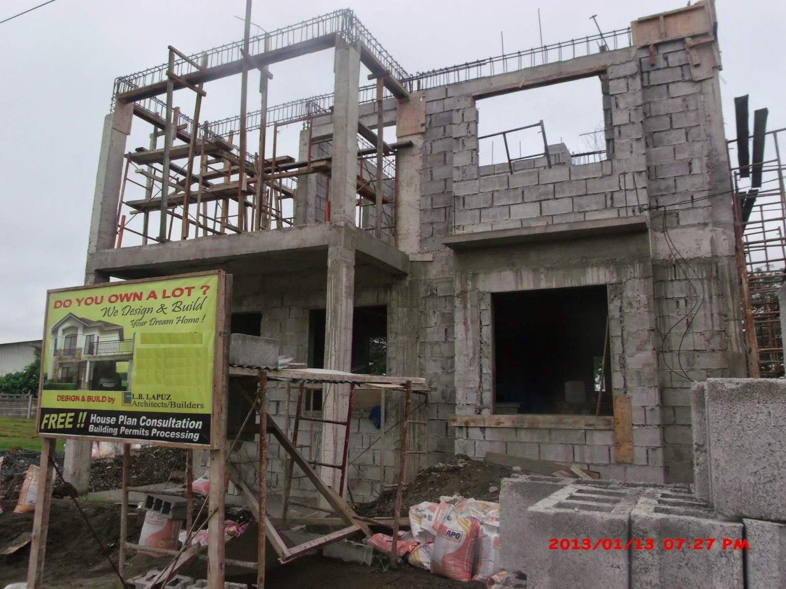 Savannah trails house construction project in oton iloilo for House construction plan