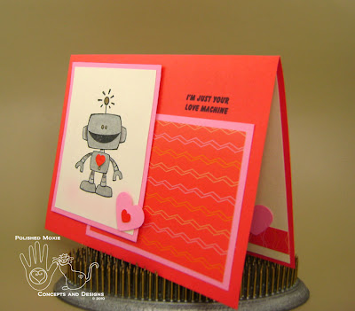 Picture of second robot card set at an angle to see front dimension