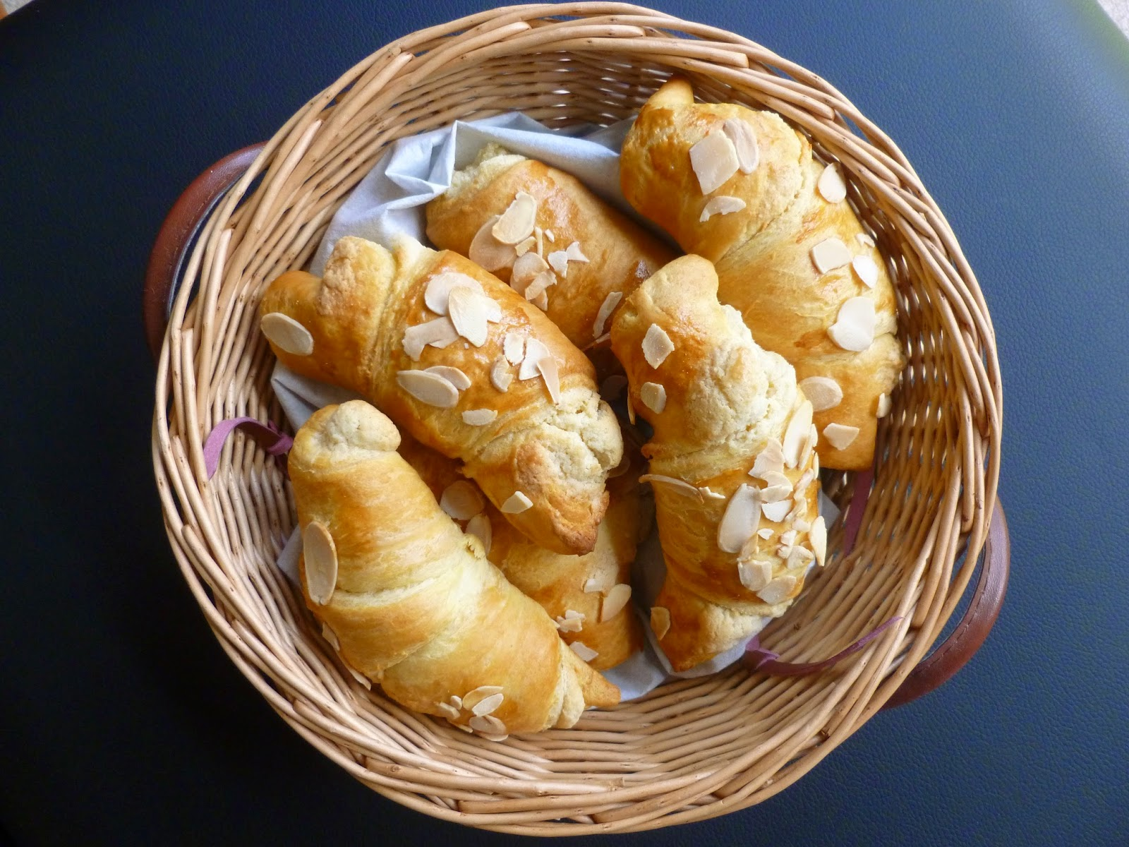 Basket of Almond Croissants