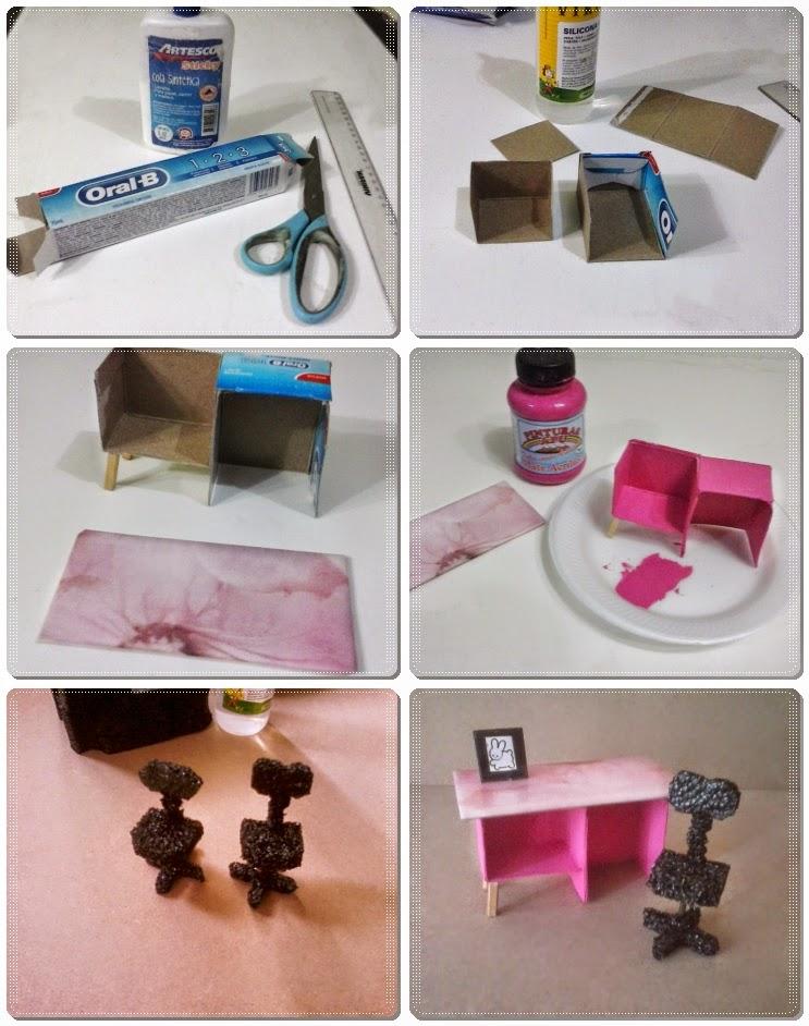 Casa de mu ecas dollhouse diy como hacer un escritorio - Cosas para hacer en casa ...