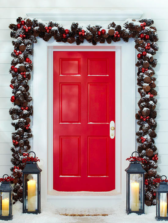 front door christmas and some winter displays and decor that say welcome - Inside Door Christmas Decorations