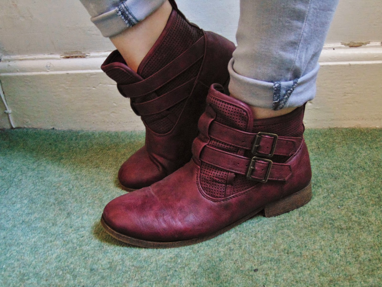 put a spring in your step! maroon boots Dorothy perkins