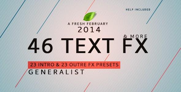 VideoHive Text Fx Generalist !