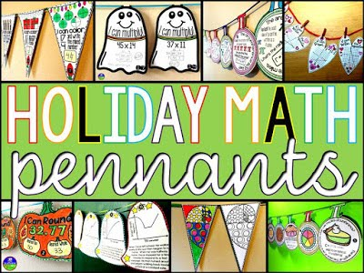 HOLIDAY MATH PENNANTS