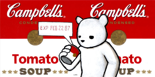 """EXP FEB 22 87"" Custom Campbell Soup Can Label by Luke Chueh"